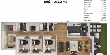 Bulvar Loft Kat ve Daire Plan Resimleri-14