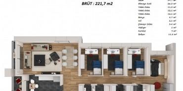 Bulvar Loft Kat ve Daire Plan Resimleri-15