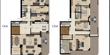 Downtown Bursa Kat ve Daire Plan Resimleri-15
