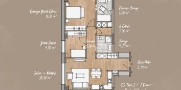 Antwell Life Care Residence Kat ve Daire Plan Resimleri-9