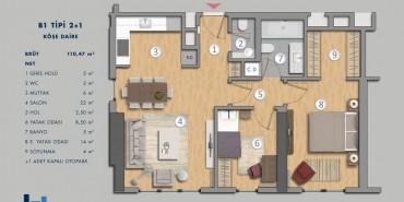 Antasya Residence Kat ve Daire Plan Resimleri-5