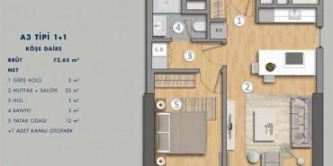 Antasya Residence Kat ve Daire Plan Resimleri-3