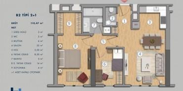 Antasya Residence Kat ve Daire Plan Resimleri-4