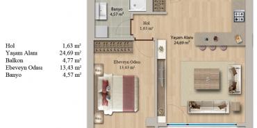 EVvel İstanbul Kat ve Daire Plan Resimleri-11
