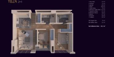Incek Loft Kat ve Daire Plan Resimleri-5