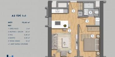 Antasya Residence Kat ve Daire Plan Resimleri-2