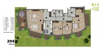 Koşuyolu Koru Evleri Kat ve Daire Plan Resimleri-8