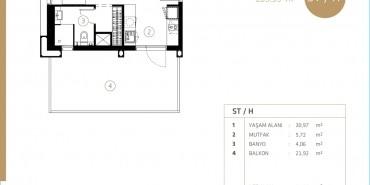 Midtown Selenium By Deyaar Kat ve Daire Plan Resimleri-8