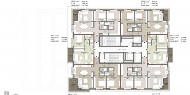 Seba Suites Kat ve Daire Plan Resimleri-14