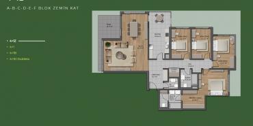 Mesa Orman Kat ve Daire Plan Resimleri-30