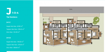 Mesa Bodrum Kat ve Daire Plan Resimleri-14