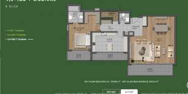 Mesa Orman Kat ve Daire Plan Resimleri-22
