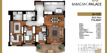 Babacan Palace Kat ve Daire Plan Resimleri-22