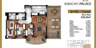 Babacan Palace Kat ve Daire Plan Resimleri-23
