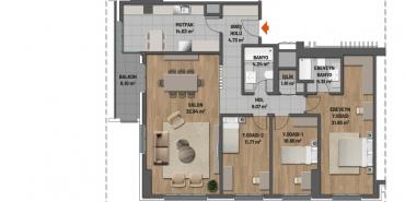 Mesa Cadde Kat ve Daire Plan Resimleri-19