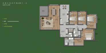Mesa Orman Kat ve Daire Plan Resimleri-31