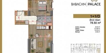 Babacan Palace Kat ve Daire Plan Resimleri-5