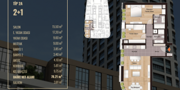 Mesa Koza 66 Kat ve Daire Plan Resimleri-1