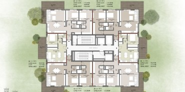 Seba Suites Kat ve Daire Plan Resimleri-16
