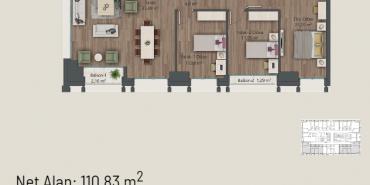Mesa Koz Kat ve Daire Plan Resimleri-4