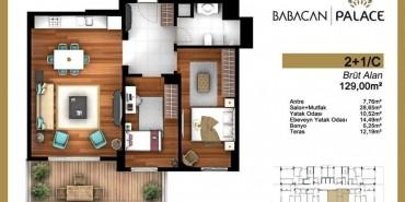 Babacan Palace Kat ve Daire Plan Resimleri-12