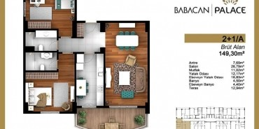 Babacan Palace Kat ve Daire Plan Resimleri-9