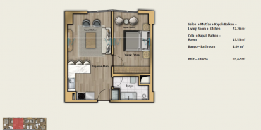 Babacan Port Royal Kat ve Daire Plan Resimleri-11