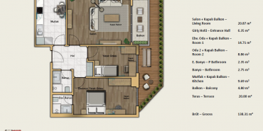 Babacan Port Royal Kat ve Daire Plan Resimleri-34