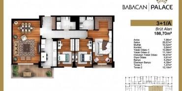 Babacan Palace Kat ve Daire Plan Resimleri-18