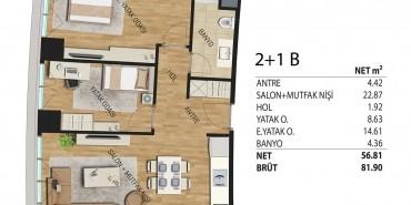 Deluxia Park Residence Kat ve Daire Plan Resimleri-3
