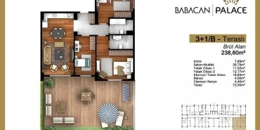 Babacan Palace Kat ve Daire Plan Resimleri-21