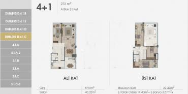 Sur Yapı Excellence Kat ve Daire Plan Resimleri-32