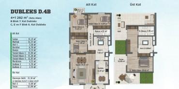 Sur Yapı Gölbahçe Evleri Kat ve Daire Plan Resimleri-1