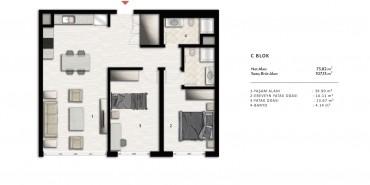 Nurol Park Kat ve Daire Plan Resimleri-21