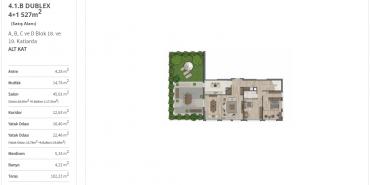 Sur Yapı Yeşil Mavi Kat ve Daire Plan Resimleri-14