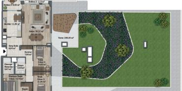 Sur Yapı Bahçeyaka Ispartakule Kat ve Daire Plan Resimleri-55