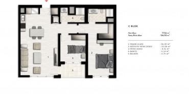 Nurol Park Kat ve Daire Plan Resimleri-22