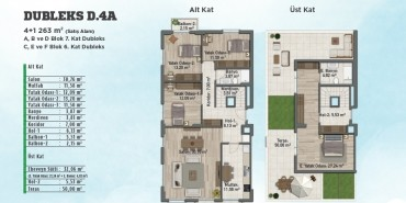 Sur Yapı Gölbahçe Evleri Kat ve Daire Plan Resimleri-2