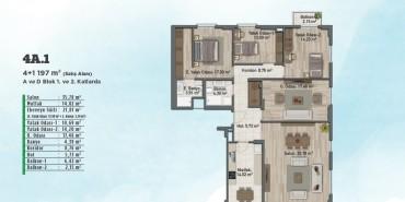 Sur Yapı Gölbahçe Evleri Kat ve Daire Plan Resimleri-4
