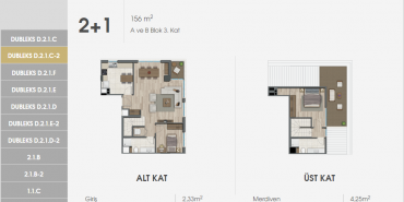 Sur Yapı Excellence Kat ve Daire Plan Resimleri-3