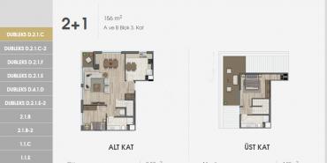 Sur Yapı Excellence Kat ve Daire Plan Resimleri-16