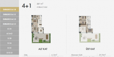 Sur Yapı Excellence Kat ve Daire Plan Resimleri-29