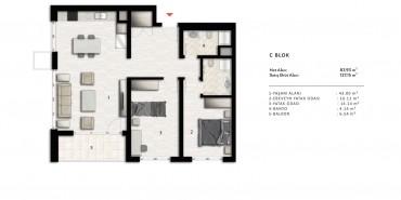 Nurol Park Kat ve Daire Plan Resimleri-17