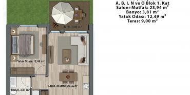Sur Yapı Lavender Sancaktepe Kat ve Daire Plan Resimleri-1