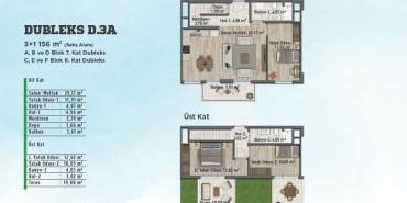 Sur Yapı Gölbahçe Evleri Kat ve Daire Plan Resimleri-14